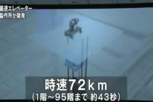 世界最快电梯:43秒上95层楼