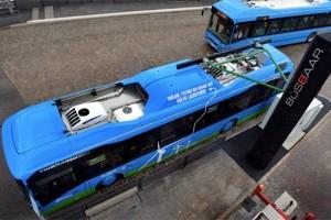 沃尔沃电动公交:5-8分钟极速无线充电