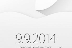 9月9日新品发布会正式确定:苹果发出邀请函