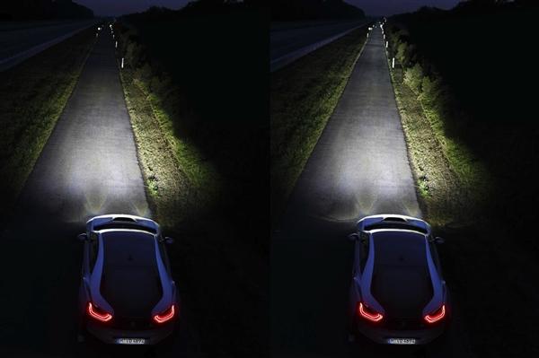 宝马i8增配激光大灯:10倍亮度效果拔群!