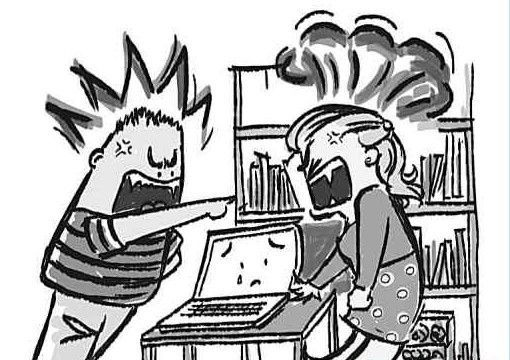 妻子只顾玩游戏 丈夫干完家务怒摔键盘要离婚
