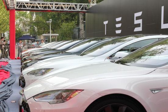 特斯拉Model S交付现场:土豪云集