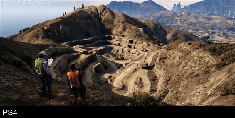 《侠盗飞车5》PS4/PS3画质对比