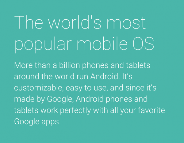 谷歌9月15或发布低端智能机Android One