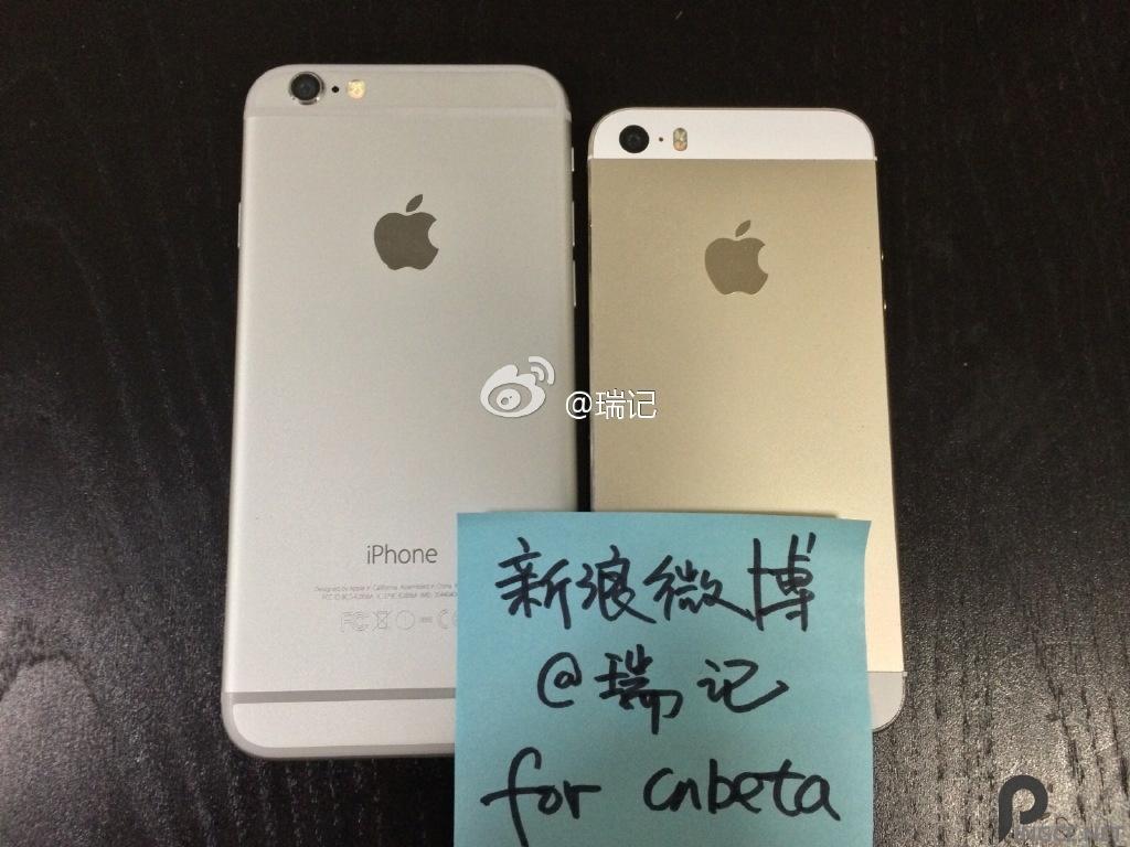 就是这样!iPhone6真机微博曝光