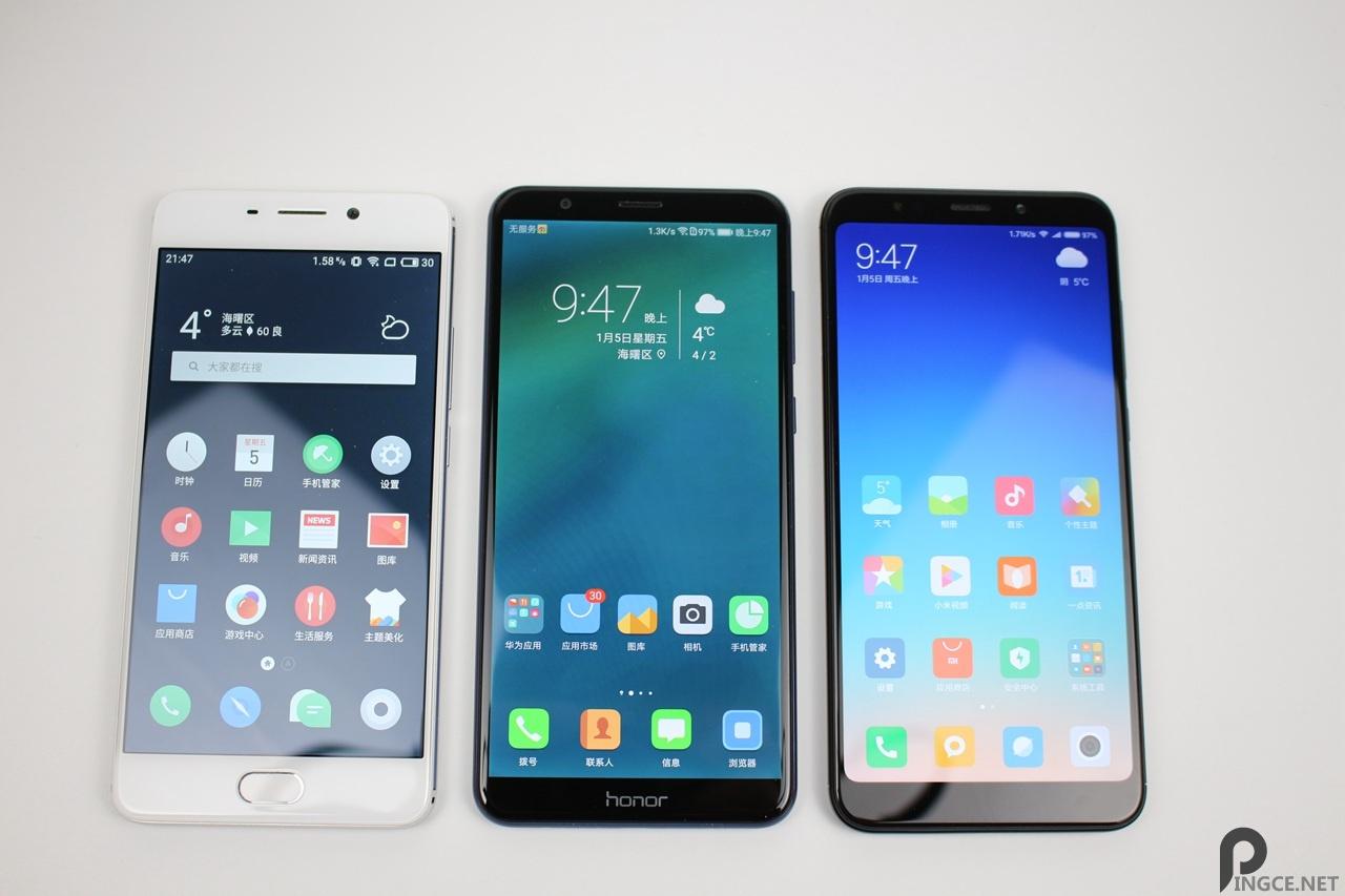 千元机大乱斗 红米5Plus、魅蓝Note6、荣耀7X对比评测